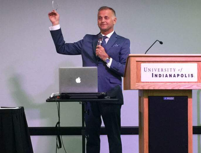 Greg Chernoff speaks at the Indiana Transgender Health Conference
