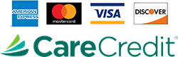 Visa, MasterCard, Discover and CareCredit
